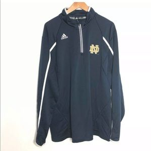 Adidas Notre Dame Size XL 1/4 Zip Pullover